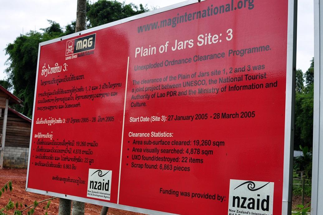 Phonsavan Vasos Laos Bombies MAG NZAID Plain of Jars